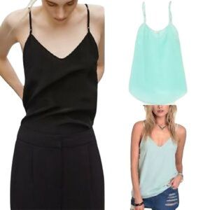 Artizia Wilfred Minou Silk Tiffany Blue Aqua Cami